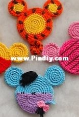 Colorful Easy Crochet -Olga Tarasova - Tigger, Eeyore, Piglet and Winnie the Pooh - Disney Winnie the Pooh Ears - English