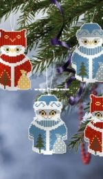 OwlForest Embroidery - Christmas Tree Decoration Cats and Owl free