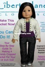 """Liberty Jane Clothing - Cropped Jacket for 18"""" Dolls"""