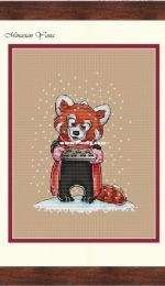 MiAxStitch - With Love - Red Panda by Minasyan Yana