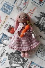 Haru Leven Handicrafts - Harumi Sato Levenhagen - Mrs. Rabbit and her Baby Carrot