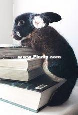 Claire Garland- Black Otter Rex Rabbit