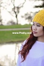 Phanessa Fong-Crochet Lily Slouch Beanie