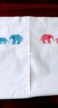 Cross stitch  flat sheet