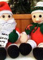 Crochet Village CV034 - Donna Harelik - Mr and Mrs Santa Claus