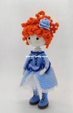 Magicdolls by Yulia -  Yulia Maksimova - Red Hair Doll in Blue Dress - Portuguese - Translated