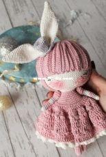 Crochet Confetti Shop - Irina Moilova - Doll Bunny Marshmallow