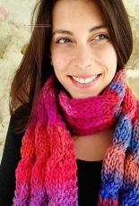 Big Squishy Cabled Scarf by Benjamin Matthews