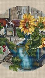 Paradise Stitch - Sunflowers by Olga Lankevich
