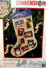 Dimensions 8522 - Holiday Stamps Stocking XSD
