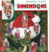 Dimensions 8488 Santa Collection Ornaments