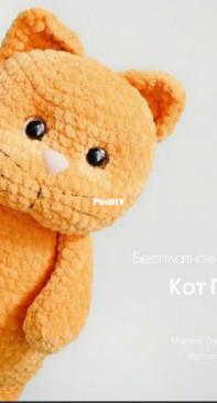 PLUSHTOYSHANDMADE - MARINA DYACHENKO PATSUK -  CAT - KOT PERSIK - RUSSIAN
