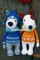 World Hmade - Robin Bull Terrier in Jacquard Sweater - Russian - Free