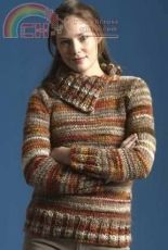 Split-Collar Pullover by Rosemary Drysdale /Tahki Stacy Charles-Free