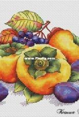Persimmon and Plums by Ksenia Voznesenskaya (Ксения Вознесенская)