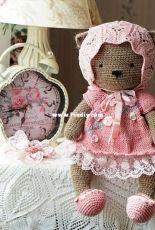 Shabby Chic Outfit for Teddy Bear - Polushkabunny