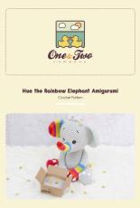 One and Two Company - Carolina Guzman - Hue the Rainbow Elephant Amigurumi