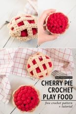 One Dog Woof - ChiWei Ranck - Crochet a Cherry Pie for Play Food or Amigurumi - Free