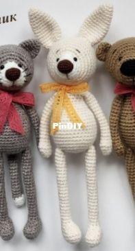 Bosikom za kotom - Natalia Polovinkina - Mouse , Cat , Fox , Bunny And Bear - Russian
