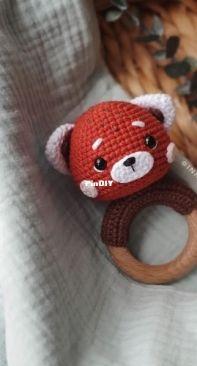 Fairy Toys by Inna Chi - Inna Chi Hm - Inna Chibinova / Chybinova - Red Panda rattle