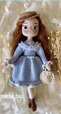 Ponchik Toys - Didem Nazlı - Anne Shirley in Blue - Mavili Anne Shirley - Turkish