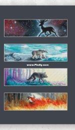 4 Elements - Water / 4 Elements - Fire / 4 Elements - Earth / 4 Elements - Air by Ekaterina Makhanova
