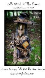 Witchy Hollow-Dee Duncan Folk Art - Zella Witch Of The Forest