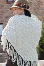 Valle di Susa Cabled Wrap by Marly Bird