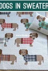 Elizabeth Hartman EH-034 Dogs in Sweaters