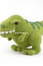 DIY Fluffies - Mariska Vos-Bolman - Titus the T-Rex dinosaur- English and Dutch