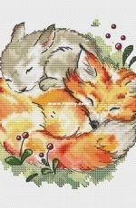 Fun Sheep - Fox and Bunny by Anastasia Kravtsova / Eremeeva