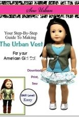 "Sew Urban Designs - Urban Vest for 18"" Dolls"