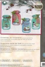 Dimensions 70-08964 Christmas Jar Ornaments
