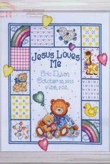 Design Works 21730 Jesus Loves Me Sampler