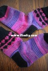 My Funny Valentine Colorwork Socks by Cherylee