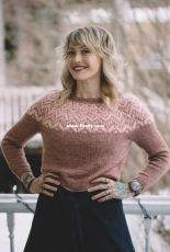 Pink Velvet Pullover by Andrea Mowry