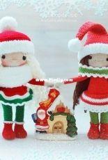 Handi Hats Design - Lollipop Dolls - Katushka Morozova - New Year girl - Russian - Free