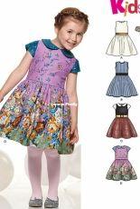 New Look 6335 girls dresses sewing pattern set