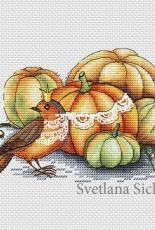 Svetlana Sichkar - Bird with pumpkin