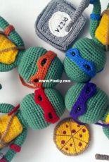 Amidorable Crochet - Jackie Laing - Teenage mutant ninja turtle - Free