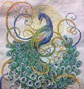 My Swirling Peacock WIP