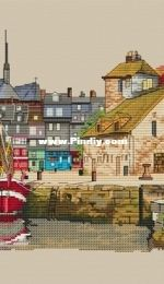 Paradise Stitch - Port Of Honfleur by Olga Lankevich