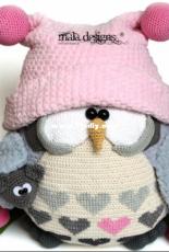 Mala Designs -Mandy Herrmann- Owl -English-German - Dutch