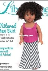 """Liberty Jane Clothing - Mitered Maxi Skirt for 18"""" Dolls"""