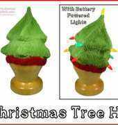 Polar Knits Christmas Tree Hat Knitting Pattern FREE
