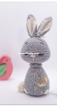 Foxy Crochet - Ellie Richards - Rocky sleeping Bunny