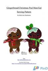 Dolls and Daydreams-Gingerbread /Christmas Pud Man/Gal Sewing Pattern