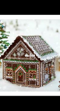 Nina Peregontseva - gingerbread house