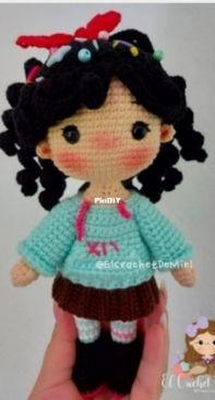 El Crochet de Miel - Miel y Galletas - Hannie Ordoñez - Vanellope - Spanish