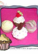 Creative Crochet Workshop- Joanita -Mini Cupcake Toppings Collection One - Free